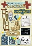 arm cast stickers - Karen Foster Design Acid and Lignin Free Scrapbooking Sticker Sheet, My Doctor Visit
