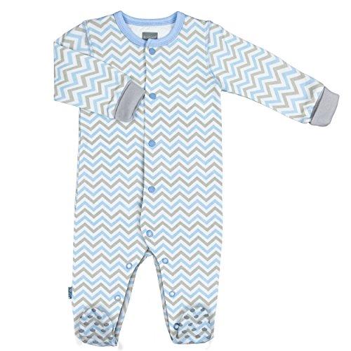 Kushies Baby Boys' Front Snap Sleeper, Light Blue, 01 - Sleeper Kushies Cotton