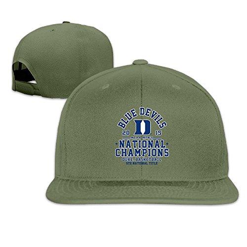 Duke Blue Devils 2015 Basketball National Champions Baseball Snapback Cap ForestGreen