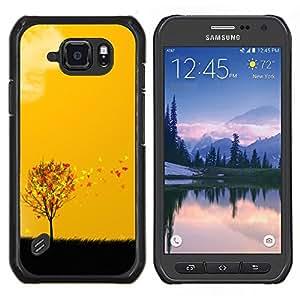 EJOOY---Cubierta de la caja de protección para la piel dura ** Samsung Galaxy S6Active Active G890A ** --Arte otoño Estaciones Amarillo Naranja Árbol Campo