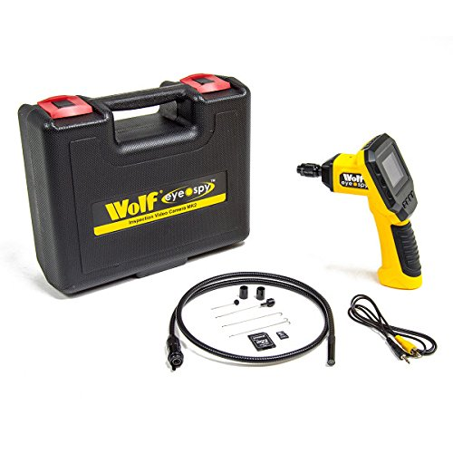 Wolf Eye Spy Inspection Video Scope with 8GB Memory Card, 1 Metre Flexible Probe & 45° Viewing Angle Ideal For Automotive, Ceilings, Drains, Machinery, Cavity Walls & Ventilation Shafts - 2 Years Warranty