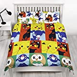 Pokemon Newbies Reversible Duvet Set (Double) (Multicolored)