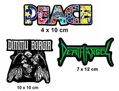 Angel Of Death Costume Diy (Rock Heavy Music_Set Peace DIMMU BORGIR Death Angel Music Metal Punk rock patch Iron on Logo Vest Jacket cap Hoodie Backpack Patch Iron On/sew on patch)