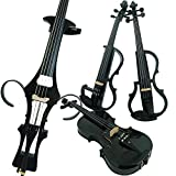 Leeche 4/4 Full Size Solid Wood Electric Cello Violoncello Maple Wood body Ebony Fittings with Bag, Bow, Rosin, Aux Cable, Earphone, Extra set of Strings(Carbon Fiber)