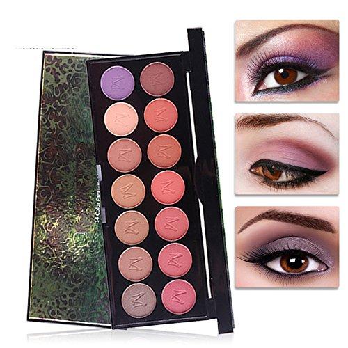 Lazy Beginners Women Make Up Women 14 Colors Matte and Pearlescent Eye Shadow Platter Glitter Eye Shadow Powder (MY2#)