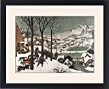 Framed Print of Breugel, Pieter, The Elder. Hunters in the Snow