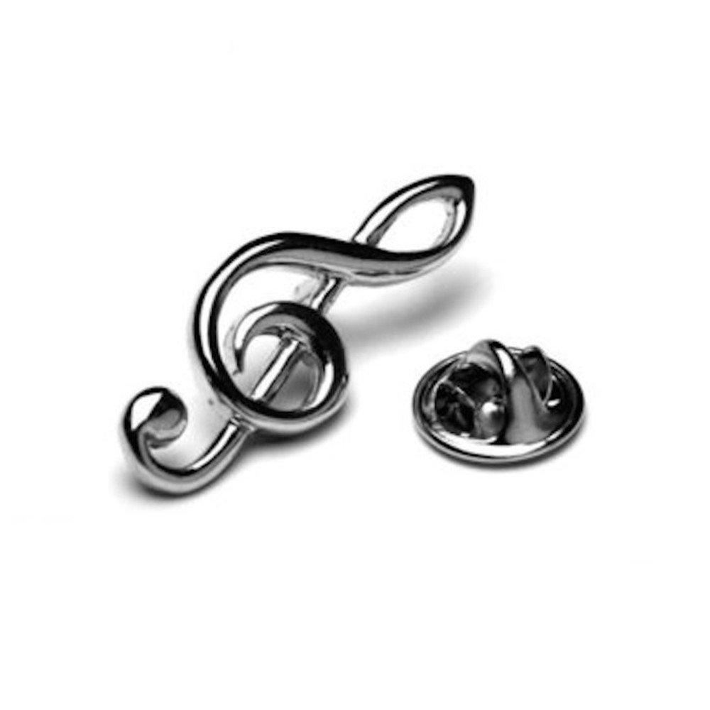 Treble Clef Music Note Lapel Pin Tack Tie