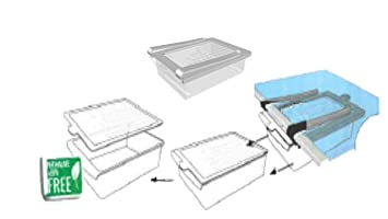 Kühlschrank Schublade : 2 x klemm schublade für kühlschrank 2er set transparent schublade