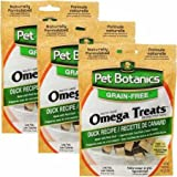 Cardinal 3 PACK Pet Botanics Healthy Omega Treats Duck (15 oz) For Sale