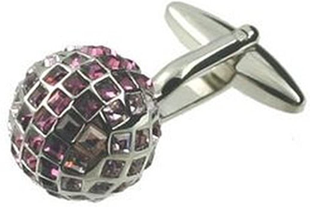Cuff links Cufflinks for men~Draco Pink Bling Crystal Cufflinks Hand Made Black Pouch