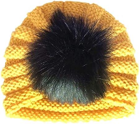 Xmiral Niñas Bebes Gorrito de Punto Turbante Sombrero Elastico Infantil  Diadema Regalo Bautizo para Recien Nacido Headwear (0-2 años 5eb8f178ee4