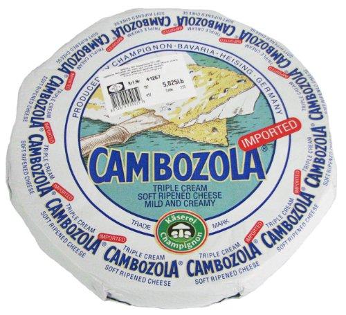 Cambozola Triple Cream Blue Veined Cheese 5 Pound Wheel (2 pack)