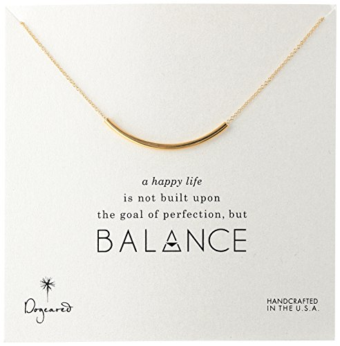 """Dogeared Balance Tube Bar Necklace, 16"""" with 2"""" extender"""
