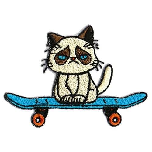 Grumpy Cat Patch Skateboard Patches Cool Iron On Patches Funny Patches For Jackets