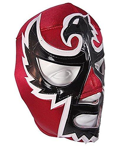 Del Mex Lucha Libre Adult Luchador Mexican Wrestling Mask Costume (Halcon Negro, Black Hawk) -
