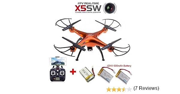 JZK® Syma X5SW Naranja Dron Quadcopter Drone RTF WiFi FPV cámara ...
