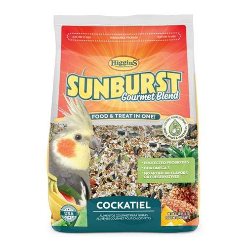 Higgins Pet Food Sunburst Gourmet Cockatiel Diet 3Lb, Large
