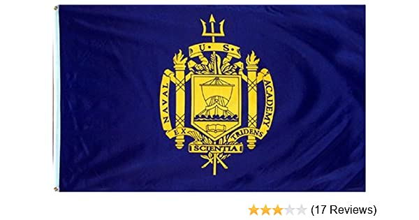 3d1a1801d33 Amazon.com   RFCO United States Naval Academy Polyester 3x5 Foot Flag USNA  USN Midshipmen Navy MD   Usna Banner   Garden   Outdoor
