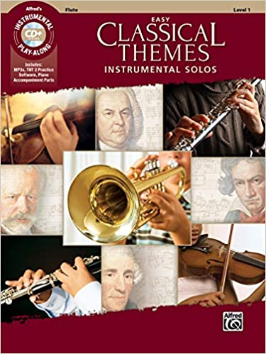Cd Flute Easy Classical Themes Instrumental Solos