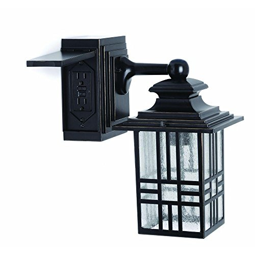 Outdoor Wall Light Fixture With Outlet