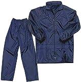 SELLCOM Raincoat for Men (Jacket and Pant) Raincoat for Men (Blue) - (Large)