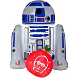 Star Wars R2D2 4FT Christmas Inflatable Outdoor Yard Decoration - Lights Up with LED - Easy Set-Up - Self Inflating