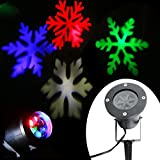Enjoydeal Star Light, Waterproof Christmas Halloween Wall Landscape Snowflakes Star Projector For Home,Party,Garden,Birthday,Wedding Night Spotlights Lamp ,Wall Decoration RGB Light