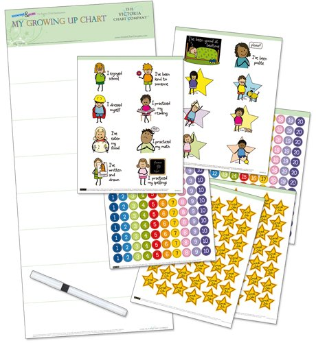 My Growing Up Reward Chart for 4 yrs+ – Helps Children to Prepare for School, Encouraging Learning, Independence and Motivation (25 x 11 (Motivation Charts Kids)