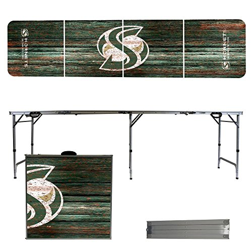 NCAA Sacramento State Hornets Weathered Version Folding Tailgate Table, 8' by Victory Tailgate