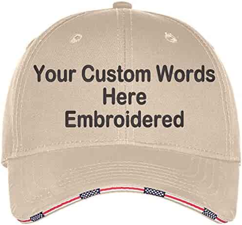 2b4ec518c1409b Custom Hat, Embroidered. Your Own Text. Adjustable Back. Curved Bill