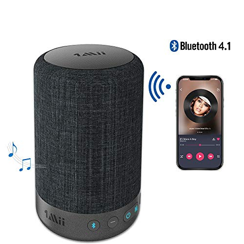 1Mii A03 Long Range Bluetooth Speaker Wireless Speaker, Portable Speaker with Music Mode&Vocal Mode, 10W 360⁰ Surround Sound Speakers, 40H Playtime, AUX-in(Black)