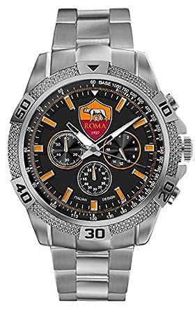 Roma Calcio  Herren -Armbanduhr    Quarz Edelstahl R0406UN1