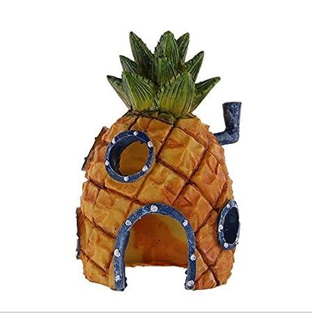 Op.h Casa de piña para decoración de acuario, decoración de peces y camarones: Amazon.es: Hogar