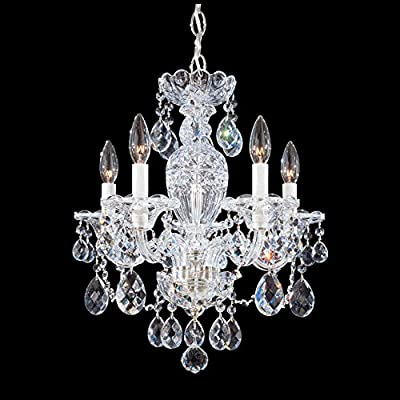 Schonbek 2999-211H Swarovski Lighting Sterling Chandelier, Aurelia