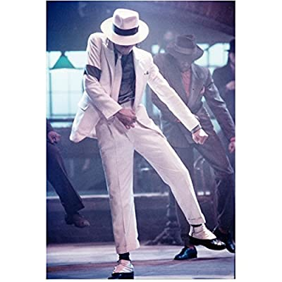 Michael Jackson King of Pop Singing Dancing in White Suit 8 x 10 Inch Photo