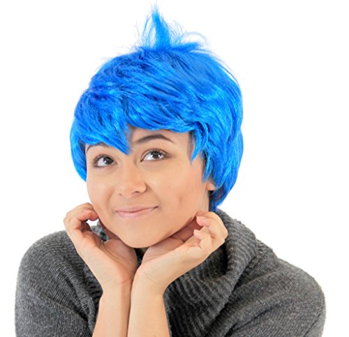 Disgust Costume Women (Joy Inside Out Blue Costume Wig)
