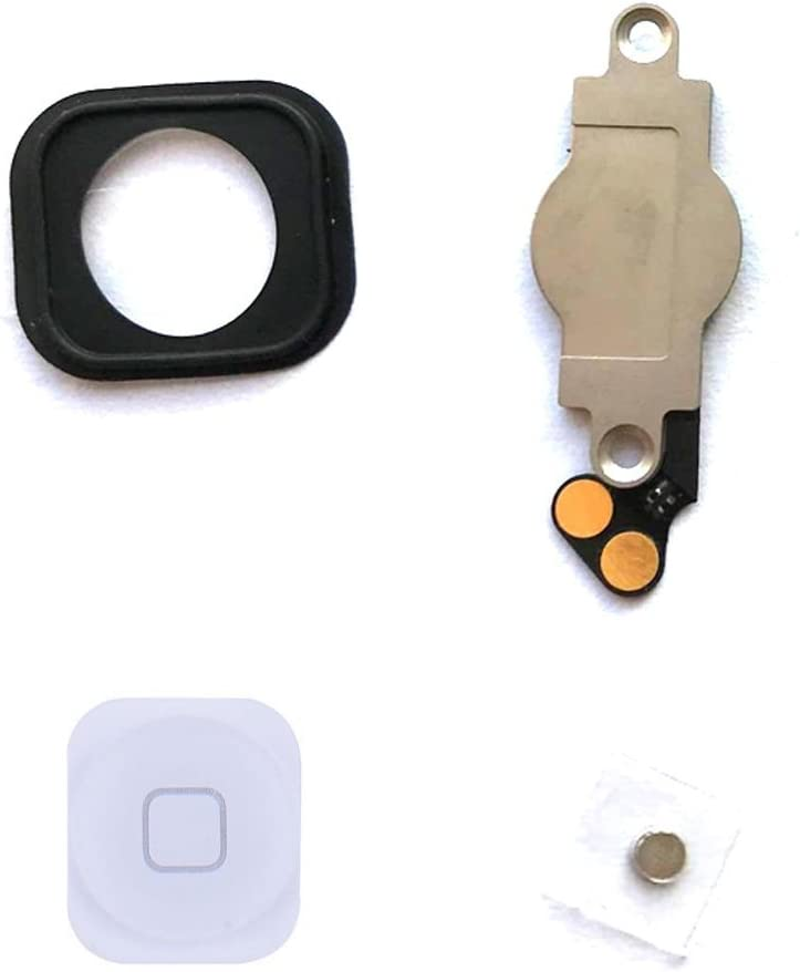 Mobofix Replacement Home Button for iPhone 5S with Flex Cable Home Key Assembly bot/ón de inicio bot/ón oro Gold ,Reemplazo de bot/ón de inicio con cable flexible para iPhone 5s
