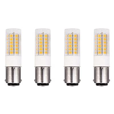 Makergroup 1076 1004 1142 BA15D S8 DC Bayonet Double Contact Base LED Light Bulbs for Boat Marine Lights, RV Camper Trailer Automotive Light Bulbs, Works on 12V&24V, Cool White 4-Pack: Automotive [5Bkhe2014447]