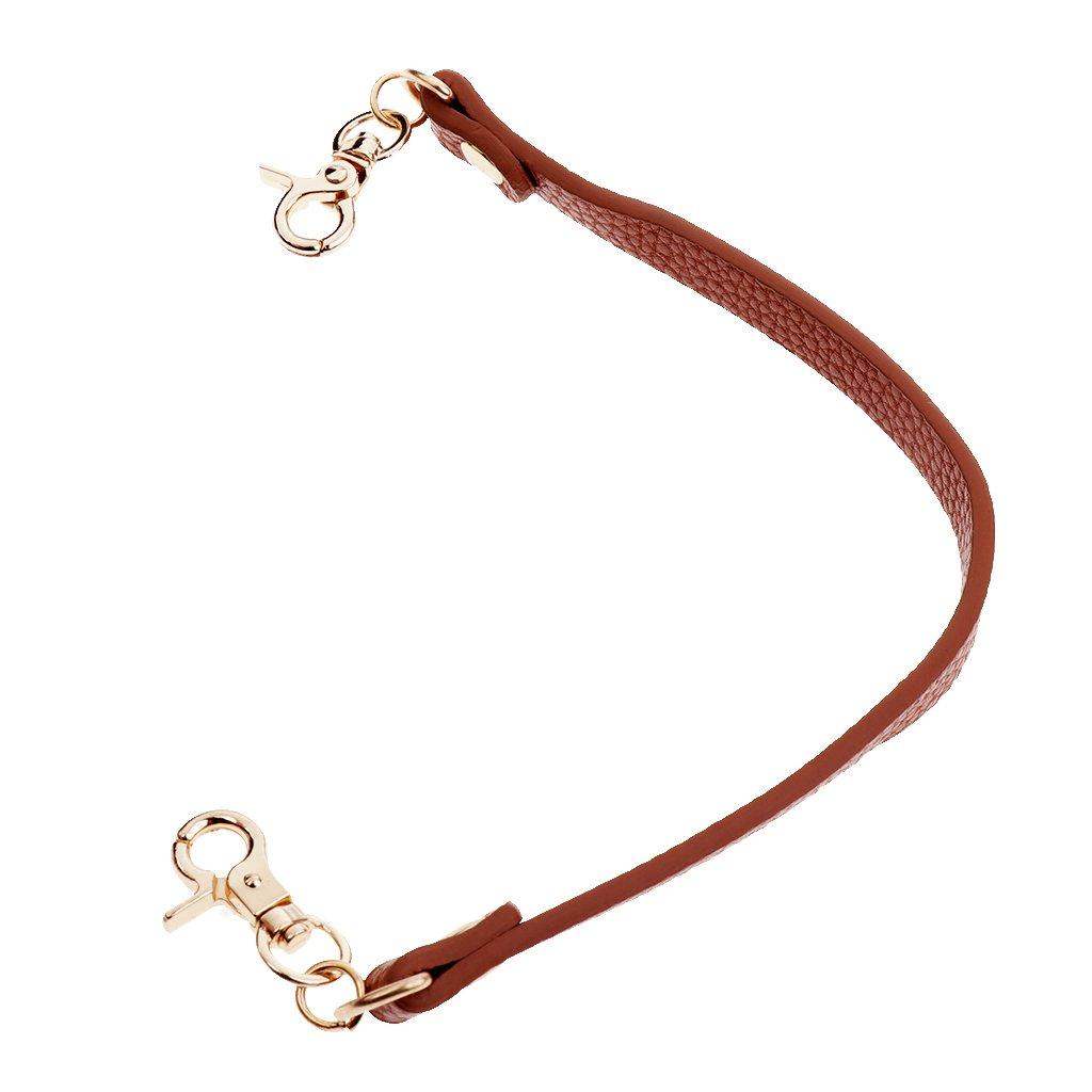 Coffee as described Homyl 30cm 1cm Wide Handbags Leather Strap Belts Shoulder Bag Strap Replacement Handbag Strap Accessory with Durable Metal Hardware