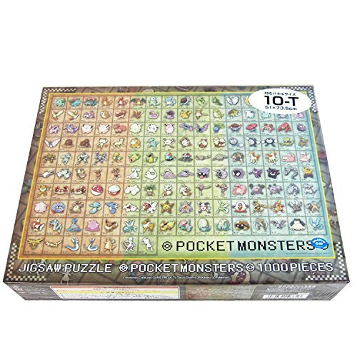 ensky 1000 Piece Jigsaw Puzzle Visual Dictionary of Pokemon Pokedex No.001~151 (51 x 73.5 cm)