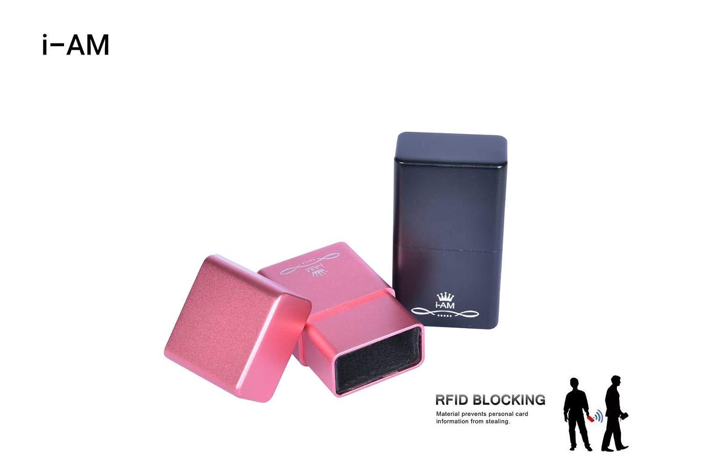 I-AM BOITE PROTECTION CLES DE VOITURE, RFID BLOKING CASE, ANTIVOL ,COQUE EN ALUMINIUM, (PINK)