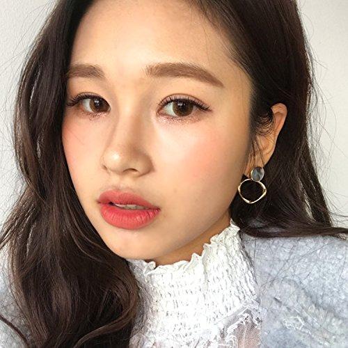 Gray Genuine Earring - usongs Korea imported genuine gray mica shell earrings earrings earrings personalized fashion ring pattern