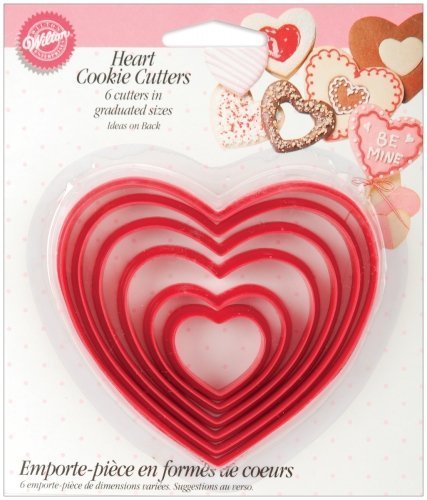 (Bulk Buy: Wilton Nesting Plastic Cookie Cutters 6/Pkg Hearts W115 (6-Pack))