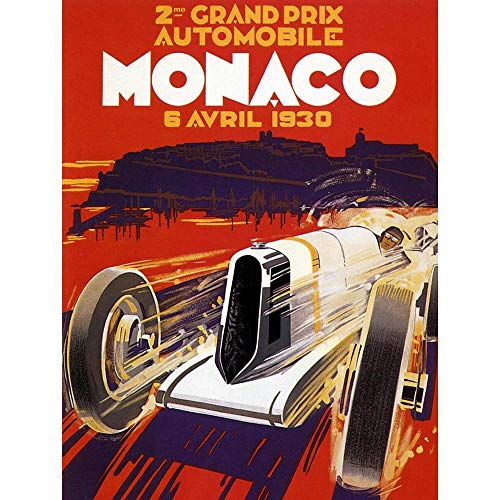 Wee Blue Coo Sport Advert Monaco Grand Prix Monte Carlo Motor Unframed Wall Art Print Poster Home Decor Premium