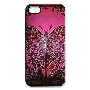 Mini - Brooklyn Art Butterfly Gate Pattern Plastic Hard Case for iPhone 5/5S