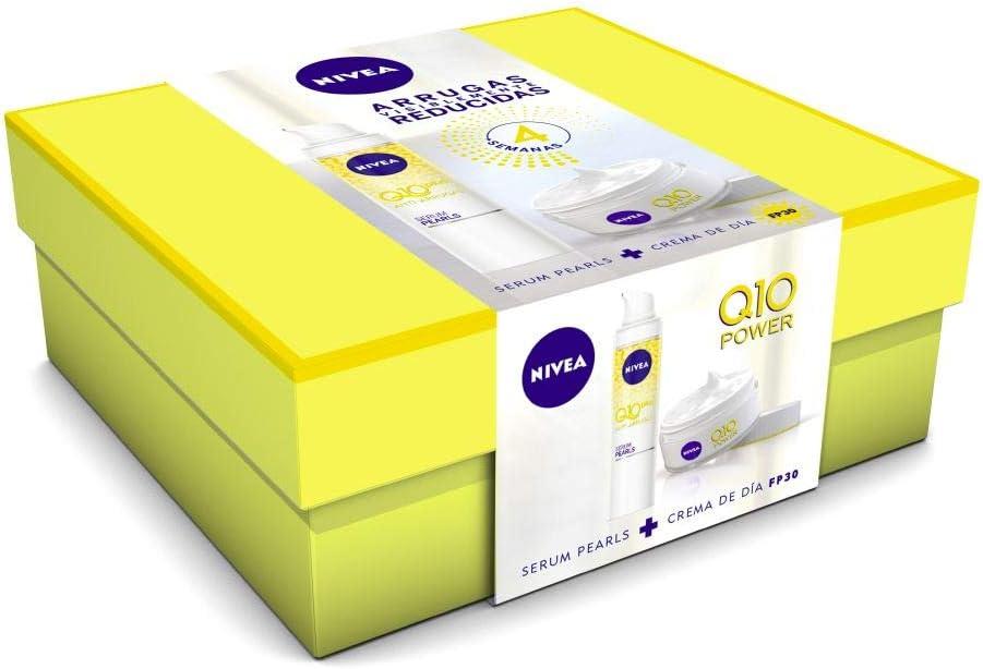 NIVEA Pack Q10 Power Crema Dia FP30 y Serum Pearls - Cofre: Amazon.es: Belleza