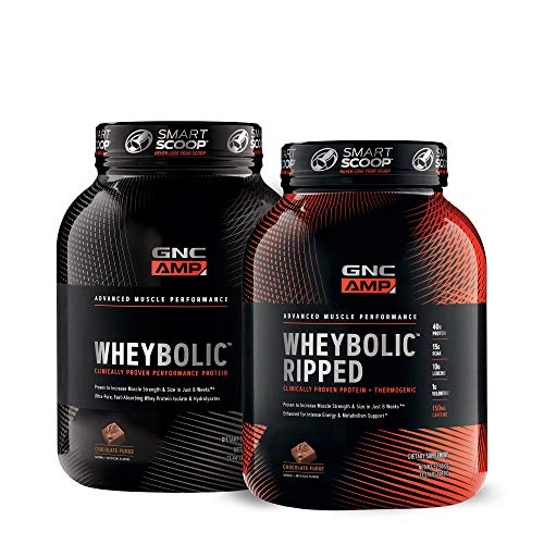 GNC AMP WheybolicTM Double Chocolate Fudge Bundle (Gnc Whey Protein Vs On Whey Protein)