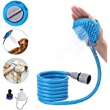 Dog Shower Sprayer with Brush/Pet Bathing Sprayer...