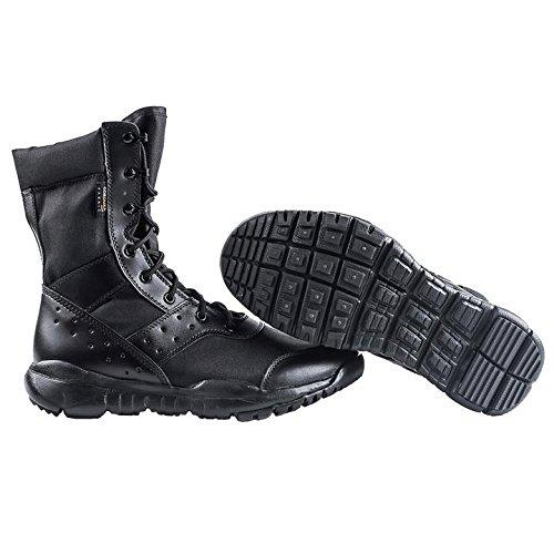 Hombres LD Botas de desierto, Botas de encaje ligero Botas militares de tactica para hombre al aire libre Negro