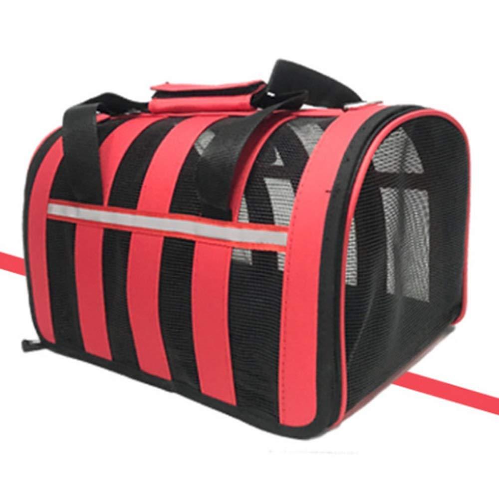 Red 34.541.547.5cm Red 34.541.547.5cm Pet Outing Bag Fashion Dog Bag Cat Bag Pet Bag Breathable Outcrop Dog Backpack Hand (color   Red, Size   34.5  41.5  47.5cm)